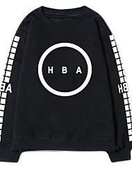 Sweatshirt Hommes Décontracté / Quotidien Imprimé Col Arrondi Non Elastique Coton Manches Longues Automne Hiver