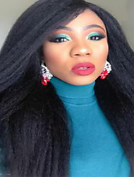 Full Lace Wig Brazilian Virgin Human Hair Kinky Straight Wig For African American Women