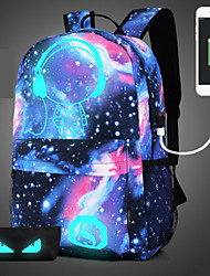 Unisex Bags All Seasons Polyester Backpack with Sequin for Casual Sports Outdoor Blue