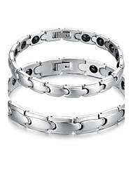 Men's Women's Chain Bracelet Steel Jewelry Silver Jewelry 1pc