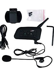1200M Waterproof Motorcycle Helmet Interphone Full Duplex Bluetooth Intercom Headset V6C with Armband Referee Intercom Comunication Headphones