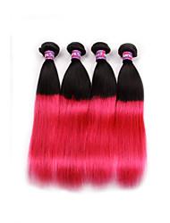 Precolored ткет волос Перуанские волосы Прямые 6 месяца 4 предмета волосы ткет