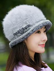 Fashion New Autumn And Winter Women 'S Bowknot Rabbit Cap Fashion Caps Warm Knit Caps