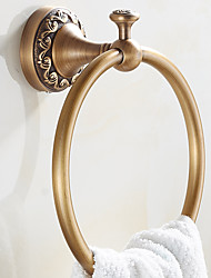 New Arrival Euro Style Wall Mount Antique Copper Towel Ring Bathroom Accessories Bath Towel Holder Bath Hardware