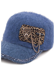 The New Diamond Leopard Head Hair Child Multi-Color Flat Cap Peaked Cap