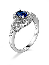 Ring AAA Cubic Zirconia Gemstone Alloy Simple Style Fashion Blue Jewelry Casual 1pc