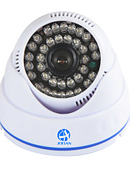 JOOAN 700TVL Security Surveillance CCTV Camera Dome Video Monitor 36 IR Leds Night Vision Indoor Home -white