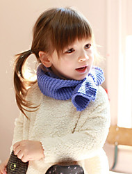 Unisex Knitting Winter Going out/Casual/Daily Boy And Girl Warmth Solid Color Neckerchief Children Scarf