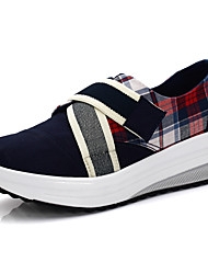 Women's Loafers & Slip-Ons Spring Summer Fall Winter Canvas Outdoor Casual Athletic Wedge Heel Black Gray Red Walking