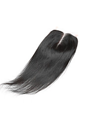 8-20inch 4x4 Lace Closure Straight Human Hair Closure Medium Brown Swiss Lace Top Quality Unprocessed Brazilian Virgin Hair with Natural Hairline