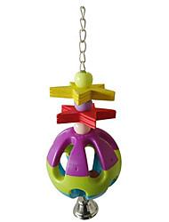 птица Игрушки для птиц Пластик Разноцветный
