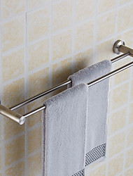 Creative Wall Mounted Double Towel Bars Stainless Steel Bathroom Bath Towel Rods