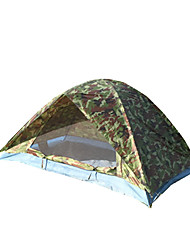 2 человека Световой тент Двойная Однокомнатная Палатка <1000mm Стекловолокно ОксфордВодонепроницаемый Воздухопроницаемость Защита от пыли