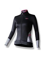 SPAKCT® Femme Manches longues Vélo Respirable Garder au chaud Pare-vent Maillot 100 % Polyester Printemps Automne Cyclisme/Vélo