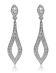 Drop Earrings Crystal Crystal Simple Style Fashion Silver Jewelry Wedding Party Daily 1 pair