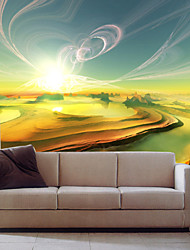 JAMMORY Art DecoWallpaper For Home Wall Covering Canvas Adhesive required Mural Basin Scenery XL XXL XXXL