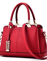 Women Bags All Seasons PU Tote with Beading Rivet Metallic for Formal Outdoor Office & Career Gray Purple Blue Wine Dark Pink