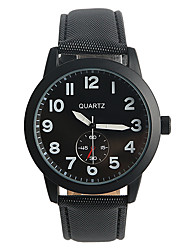 Men's Fashion Watch Quartz / PU Band Casual Black Brand