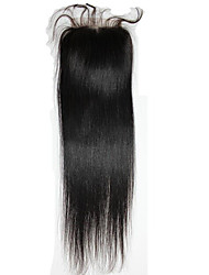 4inch x4 inch Brazilian silk straight  Remy Human Hair Top Lace Closure 3 Part Way