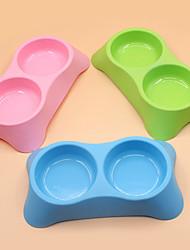Gato Cachorro Tigelas e Bebedouros Animais de Estimação Tigelas e alimentação de animais Portátil Verde Azul Rosa Plástico