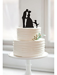 Custom couples acrylic wedding cake inserted card Elegant cake decoration birthday cake