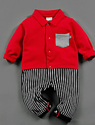 Baby Casual/Daily Striped One-Pieces,Rayon Spring Long Sleeve