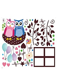 Christmas Wall Stickers Owl Animals Stickers Photo Heart Decals for Family Home Decor