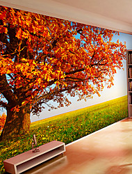 JAMMORY Art DecoWallpaper For Home Wall Covering Canvas Adhesive required Mural Prairie Trees XL XXL XXXL
