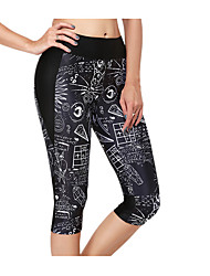 Femme Course / Running Pantalon/Surpantalon Cuissard  / Short Bas Respirable Eté Course/Running Mince Vêtements de Plein Air Noir