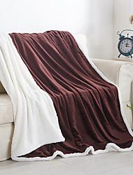 FlanellEinfarbig Einfarbig Wolle/Acryl Decken