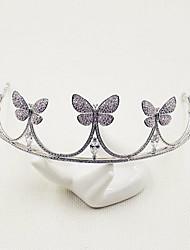 Women's Cubic Zirconia Headpiece-Wedding Tiaras 1 Piece