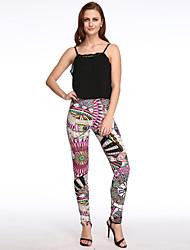 Women's Print Blue / Pink / Beige / Black / Green / Orange / Yellow Skinny Pants,Simple