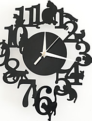 Modern/Contemporary Traditional Casual Animals Wall Clock,Others Acrylic Indoor Clock