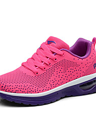 Women's Athletic Shoes Spring Fall Comfort PU Athletic Flat Heel Lace-up Pink Purple Fuchsia Other
