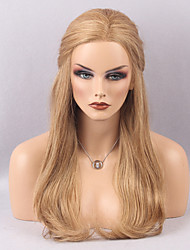 New Arrival Lovely Long Natural Wavy Human Hair Lace Front Wig