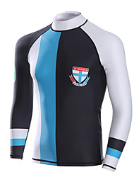 Dive&Sail® Men's 1mm Dive Skins Wetsuit TopWaterproof Breathable Thermal / Warm Quick Dry Ultraviolet Resistant Wearable Comfortable