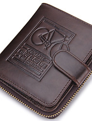 Men Cowhide Sports Casual Outdoor Wallet All Seasons