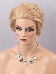 Femme Perruque Naturelles Dentelle Cheveux humains Lace Front Densité Raide Perruque Auburn Blond Fraise / Medium Auburn Medium Doré