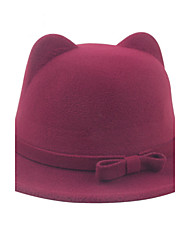 Autumn And Winter Fashion Cat Ears Bow Bow Hat British Wind Cashmere Jazz Hat Cap Pots