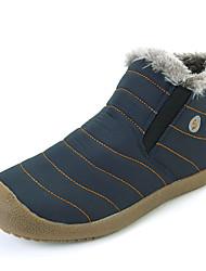 Men's Boots Winter Comfort Fabric Casual Flat Heel Blue Green Khaki Walking