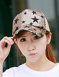 Summer Five - Pointed Star Sequins Hat Women 'S Fashion Baseball Caps Outdoor Caps Caps Shade Net Caps