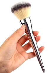 Very Big Beauty Powder Brush Blush Foundation Round Large Cosmetics Aluminum Brushes Soft Face Makeup