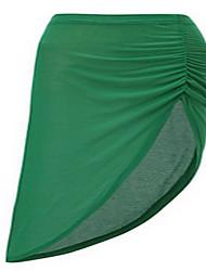 Damen Röcke,Schaukel einfarbig Chiffon,Lässig/Alltäglich Einfach Mittlere Hüfthöhe Knielänge Elastizität Polyester Micro-elastisch Sommer