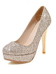 Women's Heels Spring Summer Fall Glitter Wedding Office & Career Party & Evening Stiletto Heel Sequin Gold Black Silver Red
