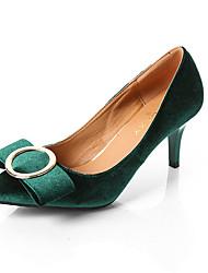 Women's Heels PU Spring Summer Casual Dress Kitten Heel Black Ruby Green Royal Blue 1in-1 3/4in