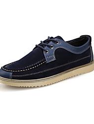 Masculino-Oxfords-Conforto-Rasteiro-Azul-Camurça-Casual