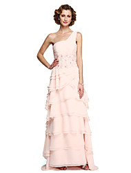 2017 Lanting Bride® A-line Mother of the Bride Dress - Elegant Floor-length Sleeveless Chiffon Lace with Appliques