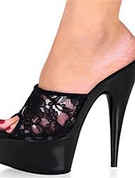 Mujer-Tacón StilettoTacones-Boda Fiesta y Noche Vestido-Materiales Personalizados-Negro Rojo Azul Rosa Negro/blanco