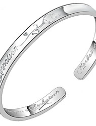 Women's Bangles Sterling Silver Fashion Jewelry Silver Jewelry 1pc