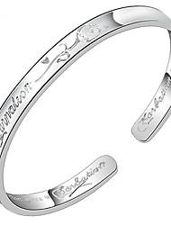 Feminino Bracelete Prata de Lei Moda Jóias Prata Jóias 1peça